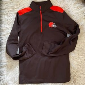 NFL Cleveland Brown's Pullover Top Sz S